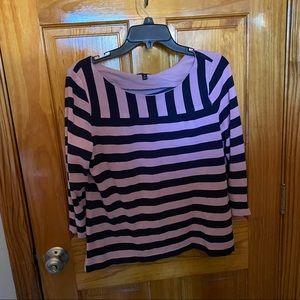 Talbots three quarter sleeve blouse